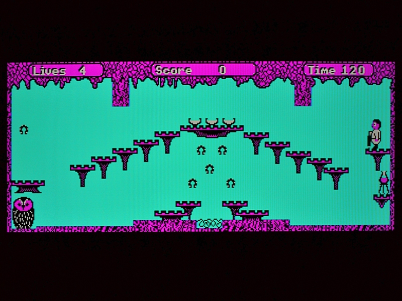 "BBC Micro game ""Boffin"" running on FPGA"