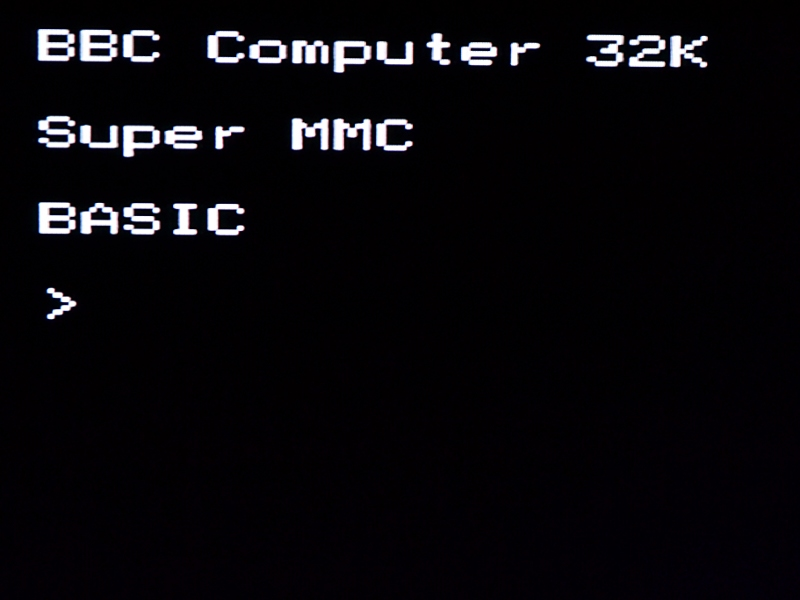 BBC Micro boot screen running on FPGA
